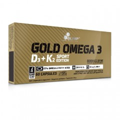 OLIMP GOLD OMEGA 3 D3 + K2 SPORT EDITION 60 caps.