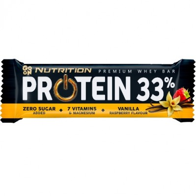GO ON NUTRITION BATON PROTEINOWY 33% - WANILIA MALINA