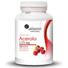 Aliness Acerola 125 mg 120 tabs.
