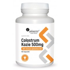 Aliness Colostrum Kozie IG 28% 500 mg x 100 caps.