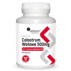 Aliness Colostrum Wołowe IG 40% 500 mg x 100 caps.
