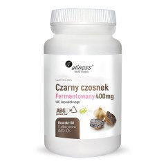 Aliness Czarny Czosnek Ferm 400 mg 100 vege caps.