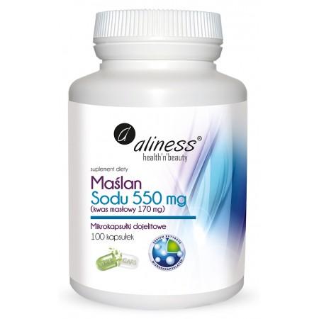 Aliness Maślan Sodu 550 mg 100 VEGE caps.