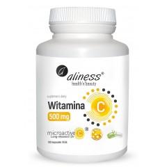 Aliness Witamina C 500 mg, micoractive 100 Vege caps
