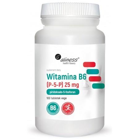 Aliness Witamina B6 (P-5-P) 25 mg 100 tabletek VEGE