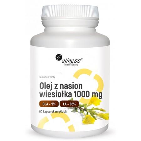Aliness Olej z nasion wiesiołka 9% 1000 mg x 90 caps.
