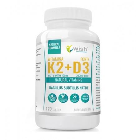 WISH WITAMINA K2 MK-7 + D3 2000IU 120 tabs.