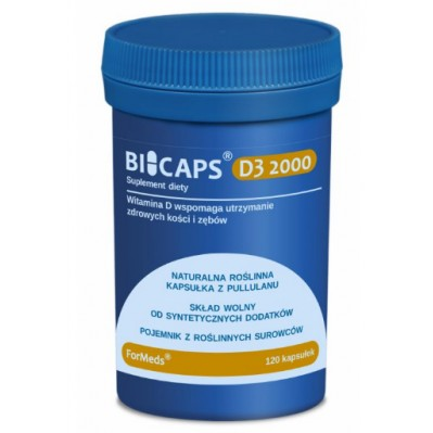 ForMeds BICAPS D3 2000 120 caps.