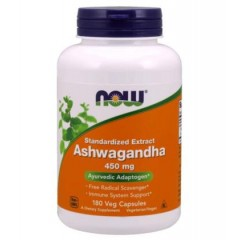 NOW FOODS ASHWAGANDHA 450mg 180 caps.