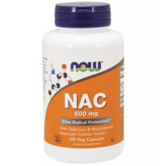 NOW FOODS NAC-ACETYL CYSTEINE 600mg 100 caps.