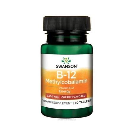 SWANSON WITAMINA B12 METHYLCOBALAMIN 2500mcg 60 tabs.