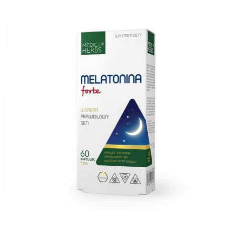 MEDICA HERBS Melatonina Forte 5mg 60 kapsułek