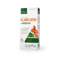 MEDICA HERBS KURKUMA + PIPERYNA 605mg 60 kapsułek