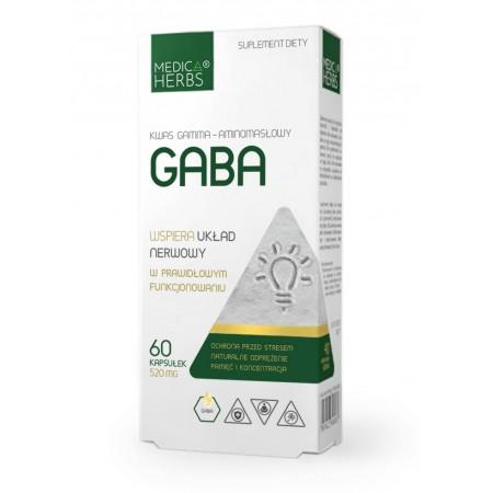 MEDICA HERBS GABA 520mg 60 kapsułek
