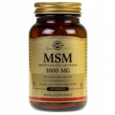 SOLGAR MSM 1000mg 120 tabs.