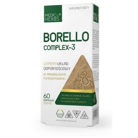 MEDICA HERBS BORELLO COMPLEX-3 500mg 60 kapsułek