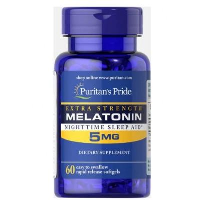 Puritan's Pride Melatonina 5mg 60 softgels caps.