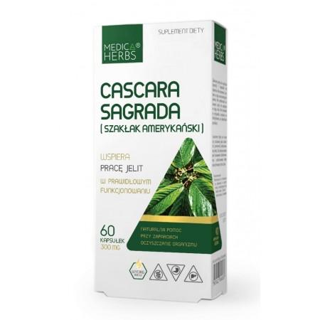 MEDICA HERBS CASCARA SAGRADA 300mg 60 caps.