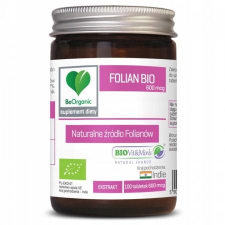 BeOrganic Folian BIO 600mcg 100 tabl.