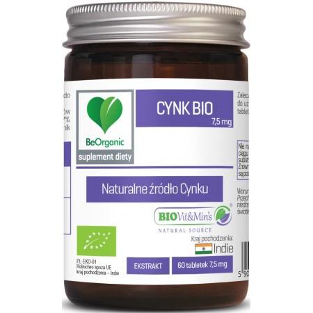 BeOrganic Cynk BIO 7,5mg 60 tabletek